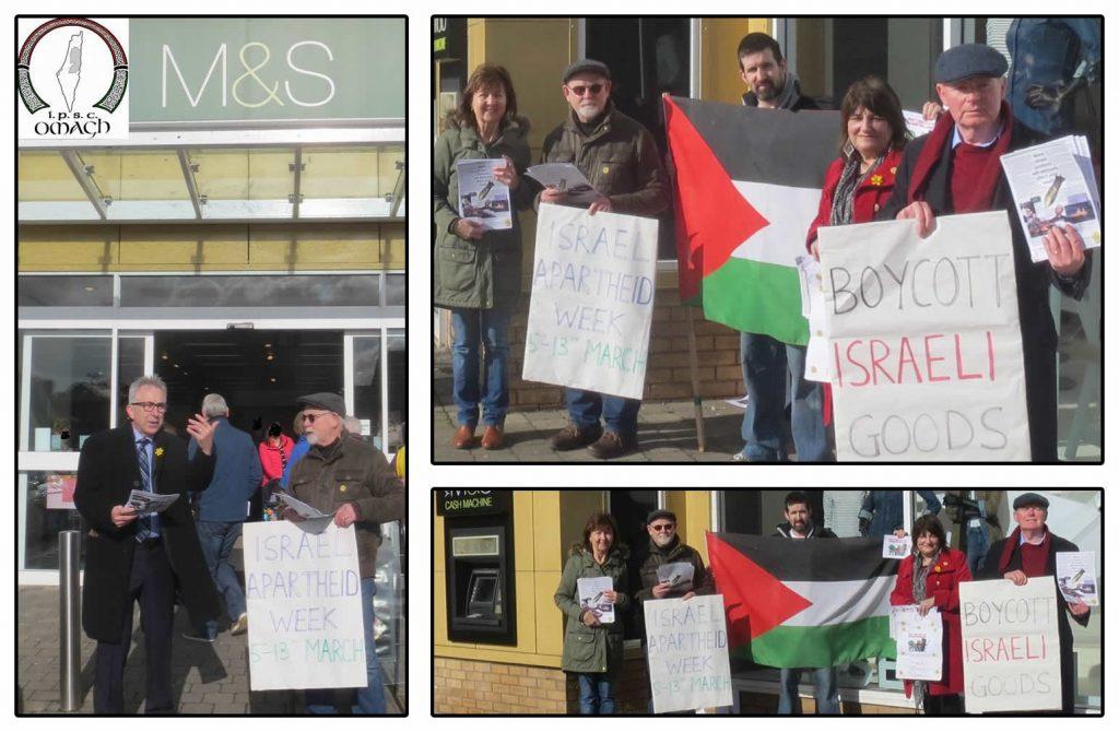 Omagh IPSC 'Boycott Isreali Goods' action