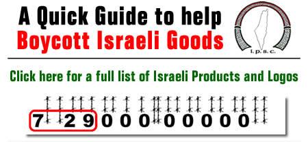 Boycott Israeli Goods & Services - Ireland Palestine
